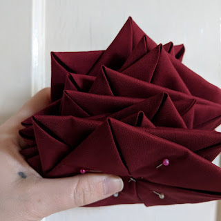 folded squares for cathedral windows