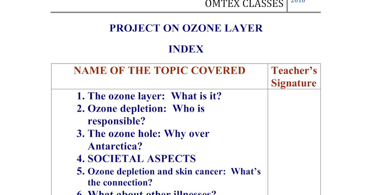 ozone depletion project Ozone depletion describes two distinct but related phenomena observed since the late 1970s: a steady decline of about 4% per decade in the total volume of ozone in earth's stratosphere (the ozone layer), and a much larger springtime decrease in stratospheric ozone over earth's polar regions.