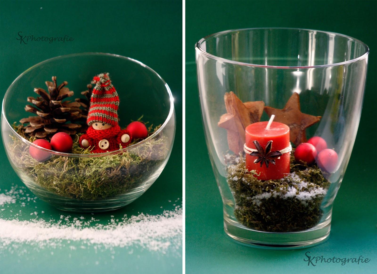Diy weihnachtliche dekoration mit moos alles und anderes - Deko glas weihnachtlich dekorieren ...