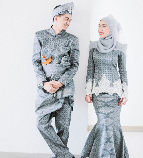 model baju songket modern