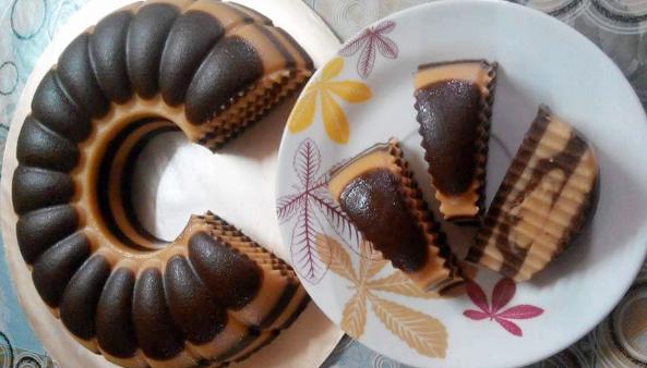 resepi kek puding biskut guna blender