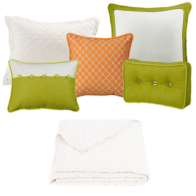 white diamond linen quilt, capri bedding euro and accent pillows from hiend accents