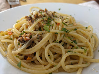 Spaghetti with mussels - Rifugio Muzzerone (Portovenere)