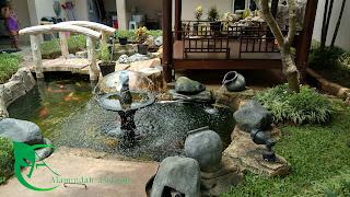 Jasa pembuatan kolam ikan koi - tukang kolam - tukang taman