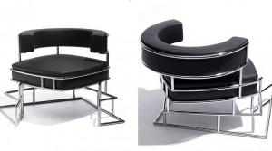 Armchair Torq designed by Daniel Libeskind for Sawaya & Moroni