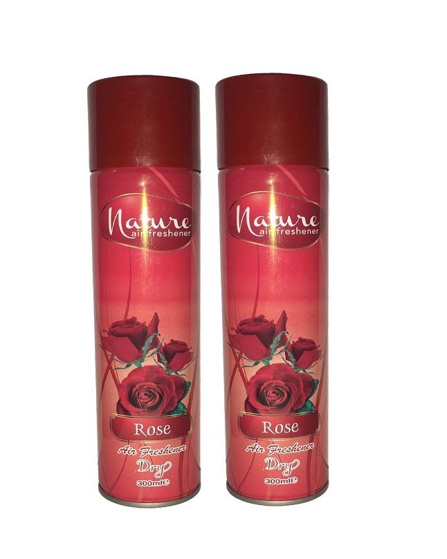 Pack Of 2 - Nature Rose Air Freshener 300 ml