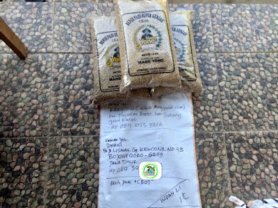 Benih Padi Pesanan    DHANI Bojonegoro, Jatim.    (Sebelum di Packing).