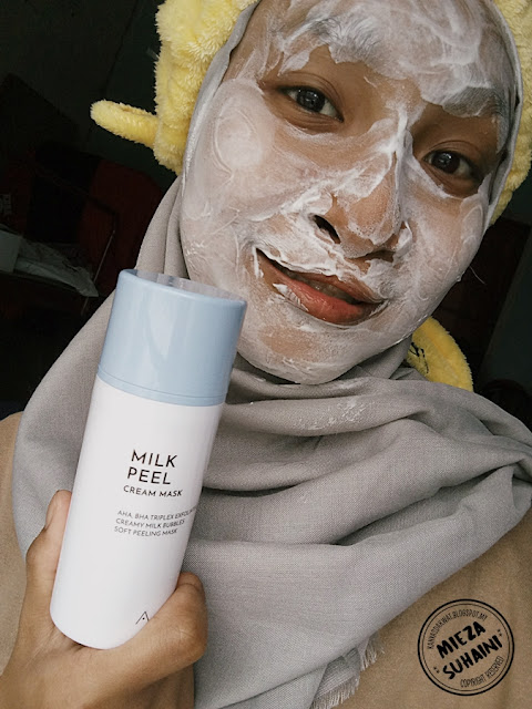 Peeling Scrub dengan Milk Peel Cream Althea