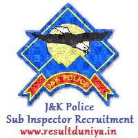J&K Police Sub Inspector Recruitment 2020-2021