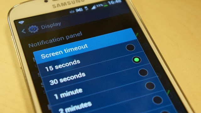 "Set a ""time out"" for the screen."