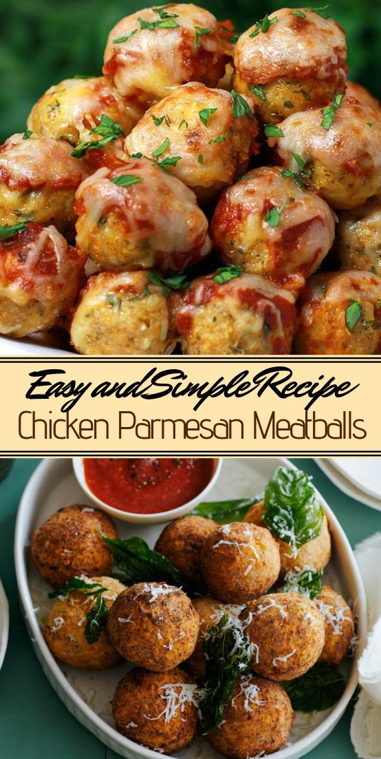 Chicken Parmesan Meatballs #dinnerrecipe #food #amazingrecipe #easyrecipe