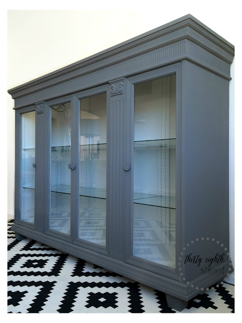 furniture makeover, hutch makeover, painted furniture, staining furniture, how to flip furniture, flipping furniture, china cabinet redo, before and after, diy, refinished furniture,