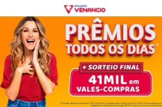 Cadastrar Promoção Aniversário 2020 Venancio - 41 Anos Prêmios Todos os Dias Sorteio Vales Compras