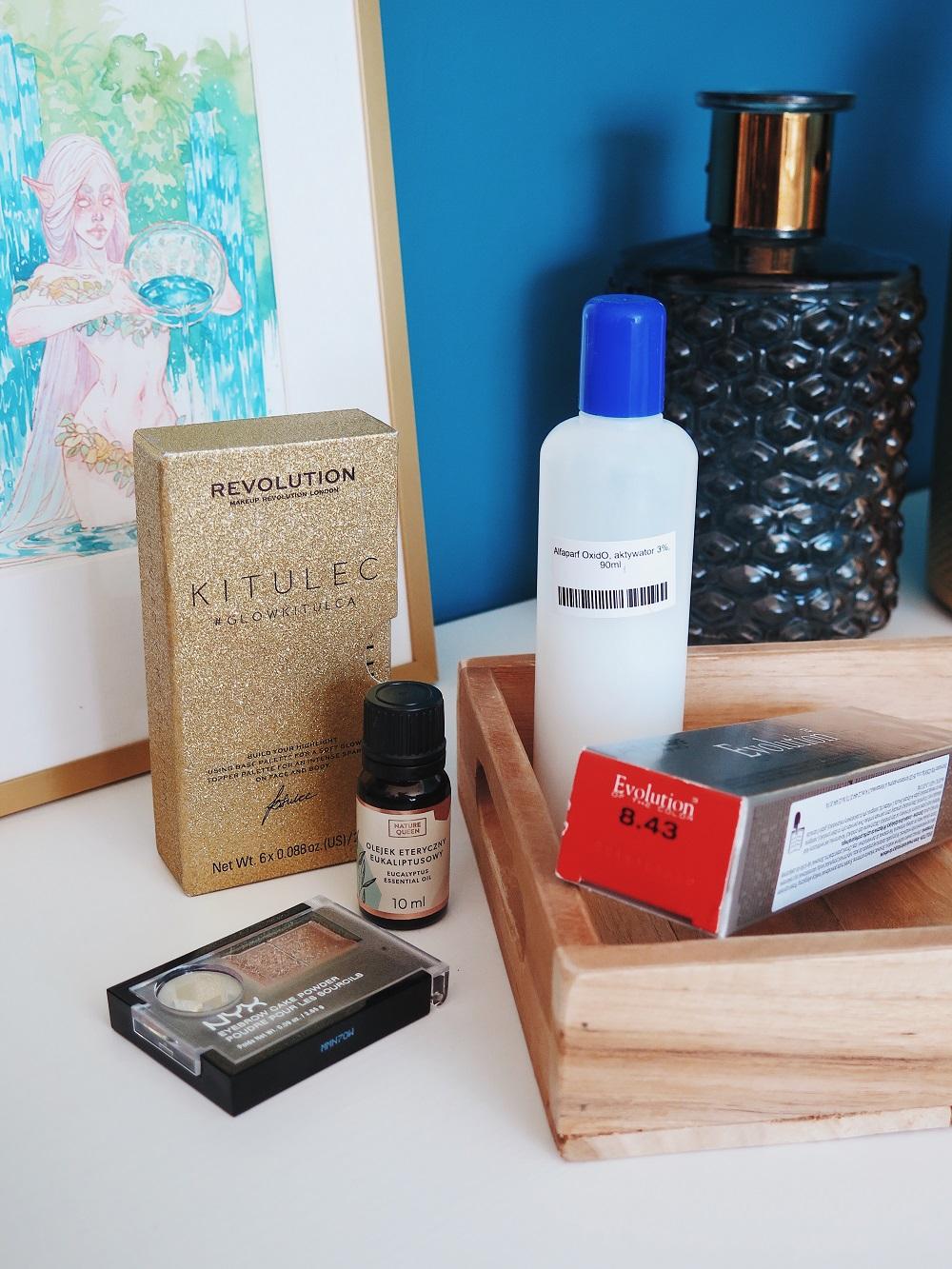 Paletka rozświetlaczy Kitulec, profesjonalna farba do włosów