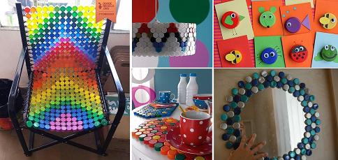 Creare oggetti con i tappi di plastica il fai da te for Oggetti per la casa economici