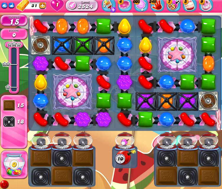 Candy Crush Saga level 2524