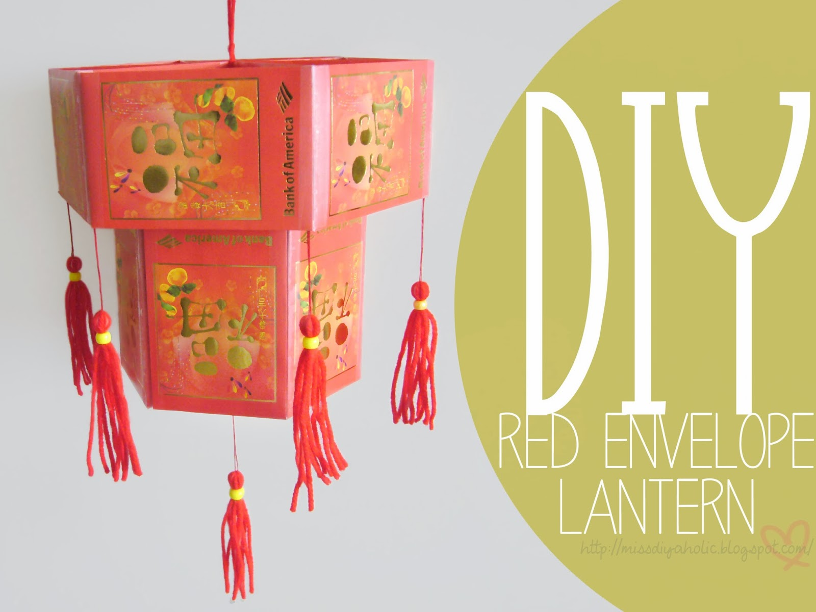 The Wonderful World of DIY: DIY Red Envelope Lantern