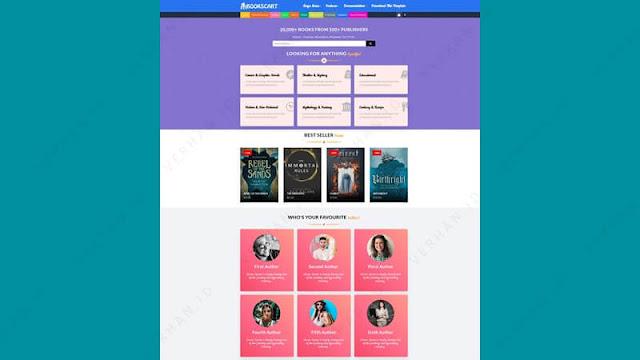 books cart blogger template
