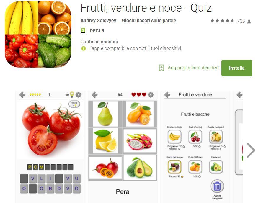 Soluzioni Frutti, verdure e noce - Quiz | Tutti i livelli risolti con screenshot soluzione