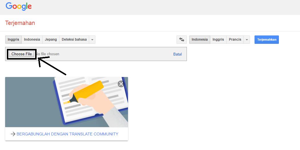 Cara Menerjemahkan Berkas PDF dengan Google Translate