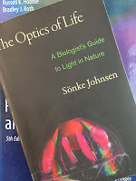 The Optics of Life:  A Biologist's Guide to Light in Nature,  by Sonke Johnsen, superimposed on Intermediate Physics for Medicine and Biology.