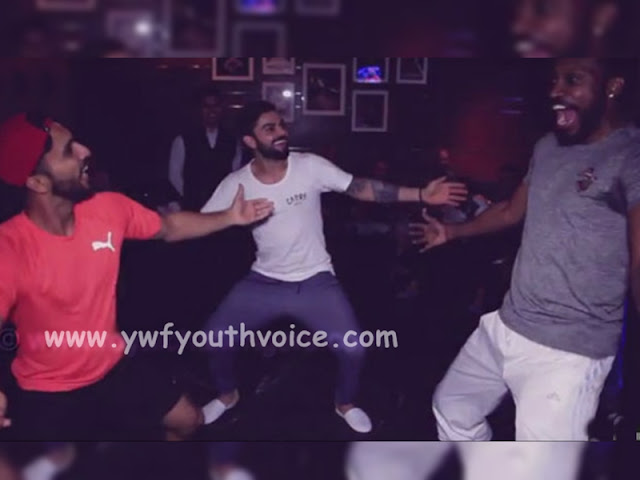 Chris Gayle, Virat Kohli and Mandeep Singh Performing Desi Bhangra Moves