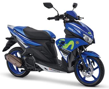 YIMM Rilis Yamaha Aerox 125 LC Livery Movistar MotoGP
