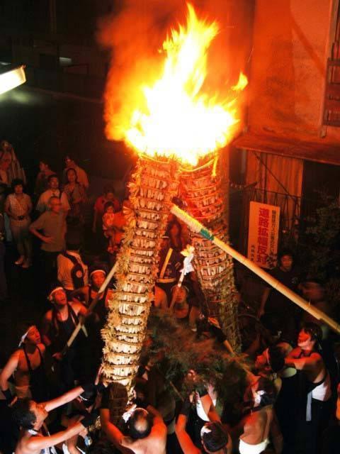 Gangara Hi-matsuri (fire festival), Ikeda City, Osaka