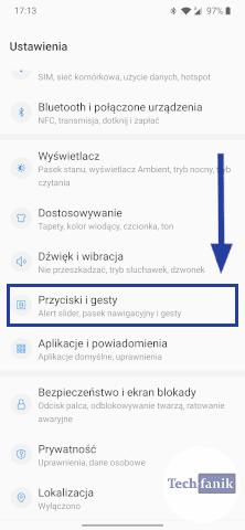Ustawienia w telefonie OnePlus