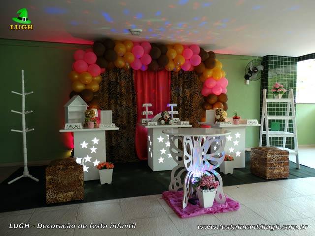 Decoração provençal simples - Aniversário tema da Oncinha para festa feminina