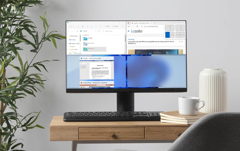 Cách chia đôi màn hình máy tính Windows 11