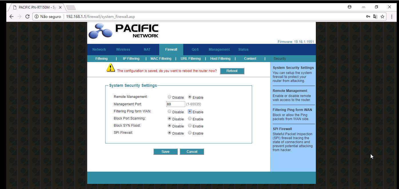 atualizar firmware roteador pacific network pn-rt150m