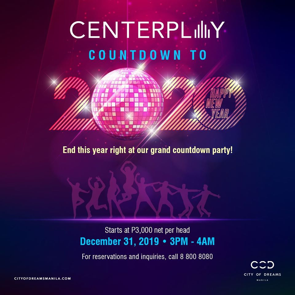 City of Dreams Manila: New Year Countdown to 2020