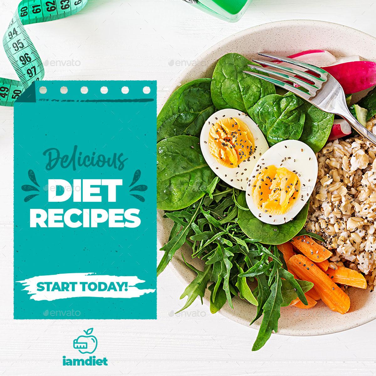 Diet Instagram Post Template 26492343 .