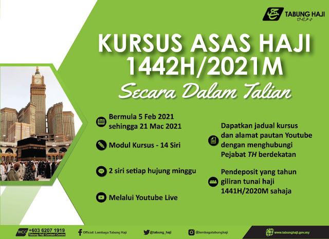 Kursus Asas Haji Kini Dibuat Secara Online Bermula 5 Februari 2021
