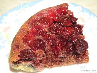 Tarta cu visine la zepter reteta rapida la tigaie cu capac sau prajitura rasturnata cu fructe proaspete retete desert de casa tarte prajituri mancare,