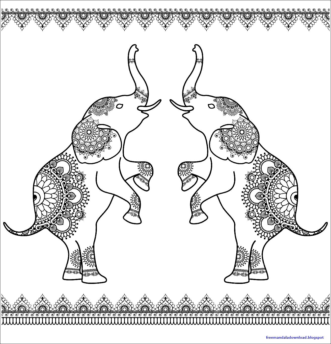 elefant mandala pdf kostenloser download  free mandala