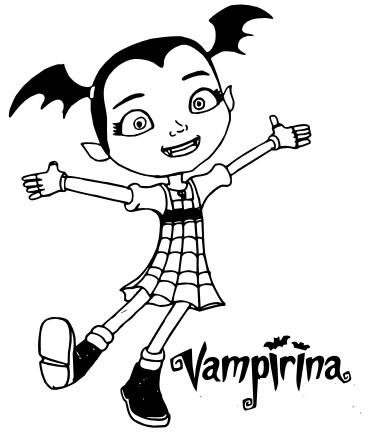 Personajes De Vampirina Para Dibujar On Log Wall