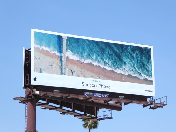 Shot on iPhone shoreline Lily V billboard