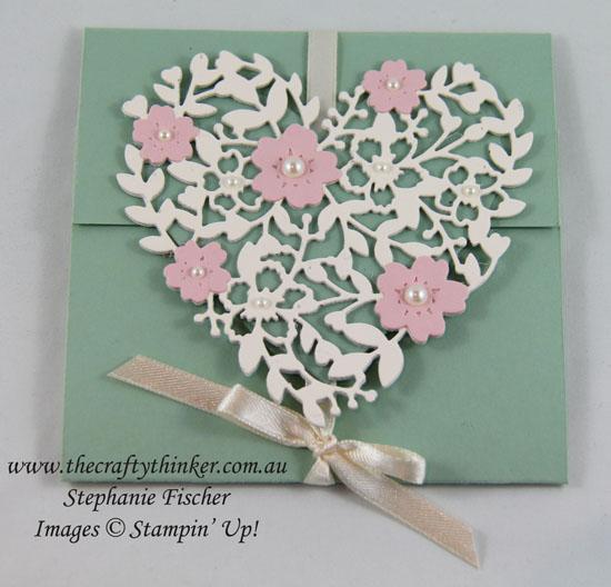 Wedding invitation suite, Bloomin Heart, #thecraftythinker, Stampin Up Australia Demonstrtor, Stephanie Fischer, Sydney NSW