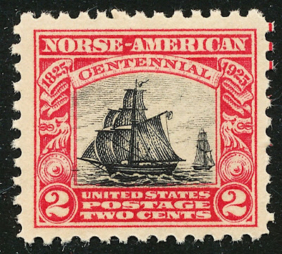 US 2 cent Restauration arrives in New York Harbor from Norway, the first organized immigration from Norway to the United States.
