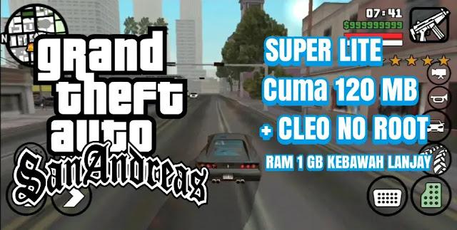 GTA SA SUPER LITE CUMA 120 MB Lengkap CLEO