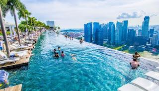 Η πιο διάσημη πισίνα ξενοδοχείου του κόσμου που κρέμεται στον αέρα