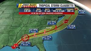 Tropical Depression Claudette