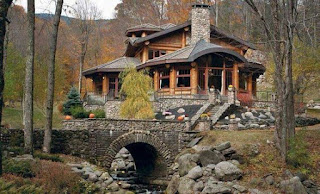 แบบบ้านโครงสร้างไม้ผนังหิน