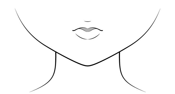 Anime mencium bibir menggambar