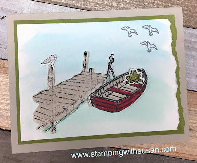 Stampin' Up! By The Dock, www.stampingwithsusan.com, 2020 Mini Catalog, Watercolor,