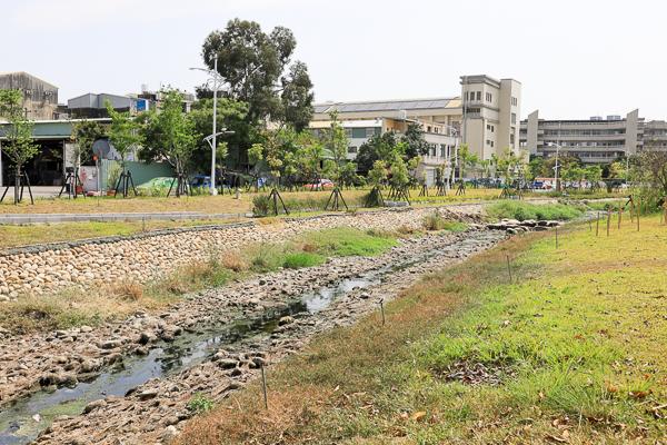 台中大里鳥竹圍公園旱溪河濱步道輕鬆散步,欣賞野鳥生態水岸美景