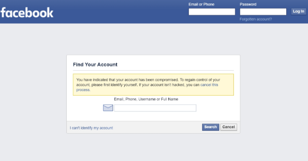Forgotten Facebook Password? Facebook Password Reset or Recovery