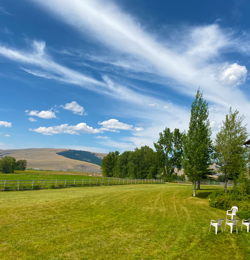 Fox Crossing Farm Montana Wedding camping